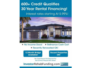 600+ CREDIT – 30 YEAR RENTAL PROPERTY FINANCING – Up To $5,000,000.00!