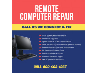 Remote Computer Support- Virus Removal- Fix Slow PC or MAC