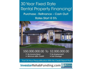 30 Year Rental Fixed Interest Rate Starting At 4.5% – Refinance Cash Out Up To $2,000,000!