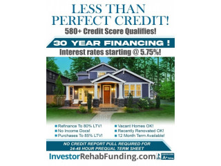 580+ CREDIT – 30 YEAR RENTAL PROPERTY FINANCING – Up To $5,000,000.00!
